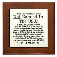 Not Banned In The USA! Framed Tile