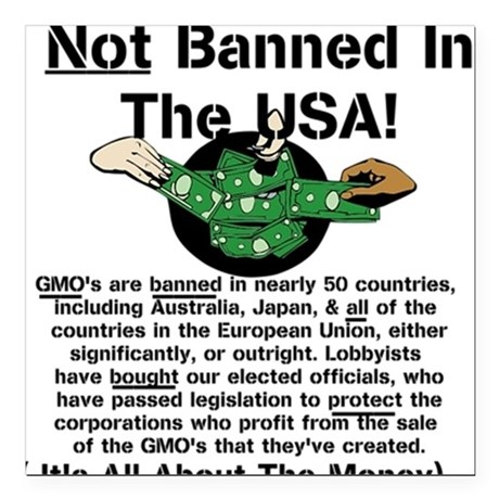 """Not Banned In The USA! Square Car Magnet 3"""" x 3"""""""
