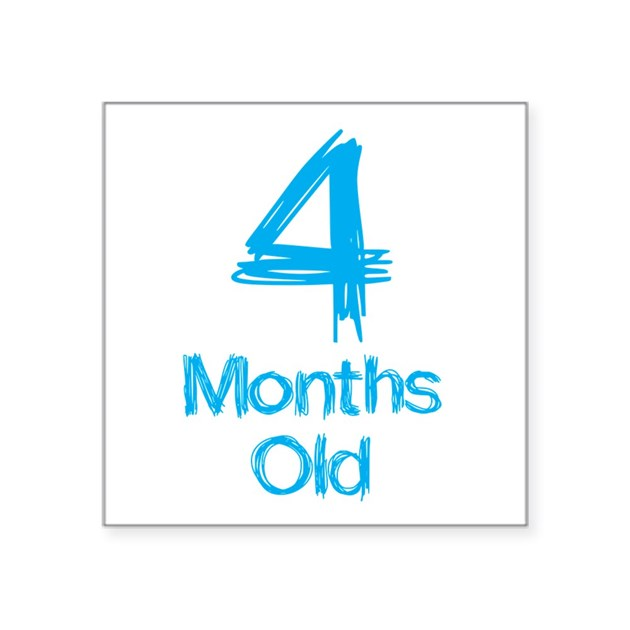 4 Months Old Baby Milestones Sticker By Mightybaby