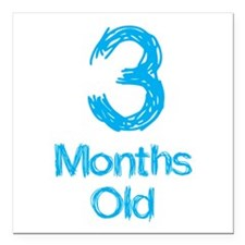 """3 Months Old Baby Milestone Square Car Magnet 3"""" x"""