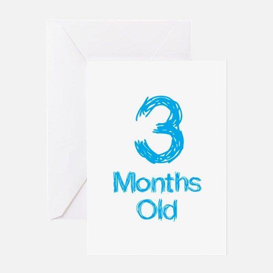 3 Months Old Baby Milestone Greeting Card
