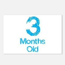 3 Months Old Baby Milestone Postcards (Package of