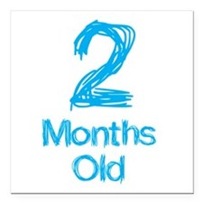 """2 Months Old Baby Milestone Square Car Magnet 3"""" x"""