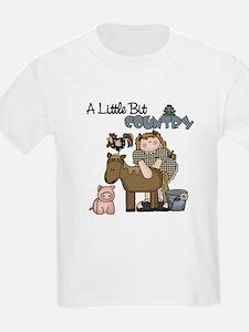 A Little Bit Country (Girl) Kids T-Shirt