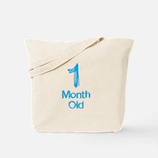 1 Months Old Baby Milestones Tote Bag