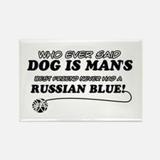 Russian Blue Cat designs Rectangle Magnet
