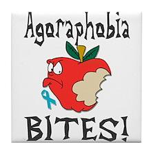 Agoraphobia Bites Tile Coaster