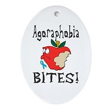 Agoraphobia Bites Ornament (Oval)