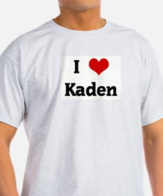 I Love Kaden Ash Grey T-Shirt