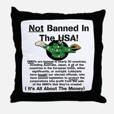 Not Banned In The USA! Throw Pillow