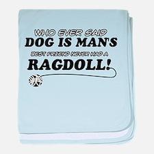 Ragdoll Cat designs baby blanket