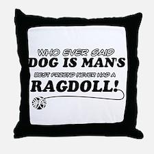 Ragdoll Cat designs Throw Pillow