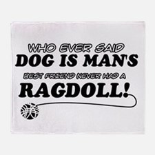 Ragdoll Cat designs Throw Blanket