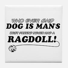 Ragdoll Cat designs Tile Coaster