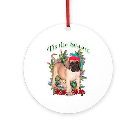 Fawn Puppy 'Tis Ornament (Round)