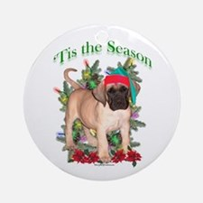 Fawn Puppy 'Tis Ornament (Round)