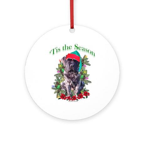Brindle Puppy 'Tis Ornament (Round)