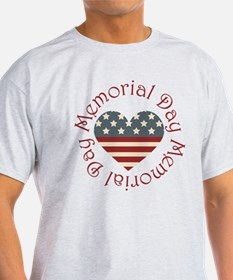 Memorial Day Heart T-Shirt