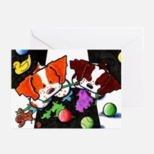 GOTCHA! Holiday Brittany Dog Greeting Cards (10p)