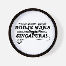 Singapura Cat designs Wall Clock