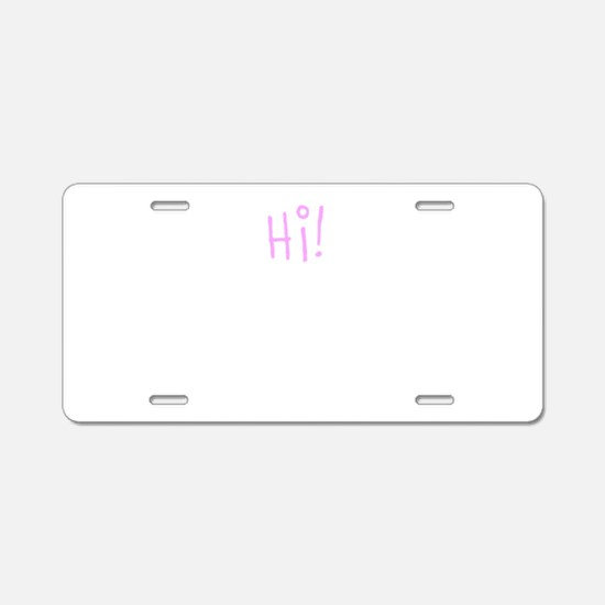 Hi Aluminum License Plate