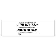 Skookum Cat designs Bumper Sticker