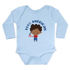 100% American Long Sleeve Infant Bodysuit