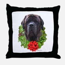 Brindle Wreath Throw Pillow