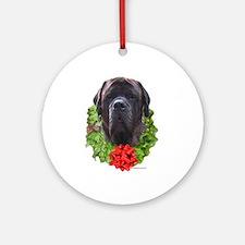 Brindle Wreath Ornament (Round)