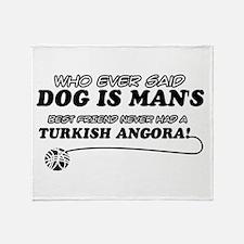 Turkish Angora Cat designs Throw Blanket