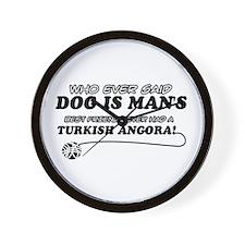 Turkish Angora Cat designs Wall Clock