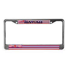 Hawaii Hawaiian Blank Flag License Plate Frame