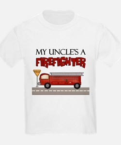 My Uncle's A Firefighter Kids T-Shirt