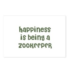 Happiness is being a ZOOKEEPE Postcards (Package o