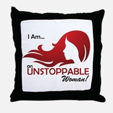 I Am Unstoppable Throw Pillow