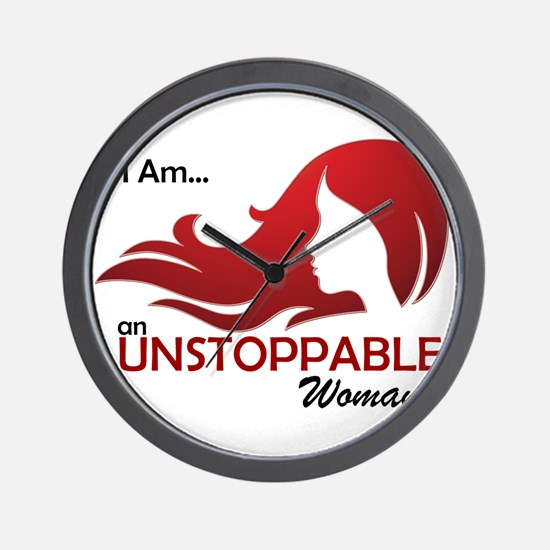 I Am Unstoppable Wall Clock