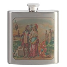 Vintage Cigar Label Flask