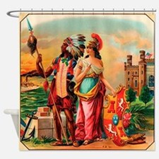 Vintage Cigar Label Shower Curtain