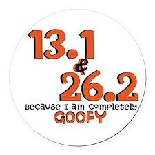 Goofy Challenge Round Car Magnet
