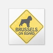 "Brussels On Board Square Sticker 3"" x 3"""