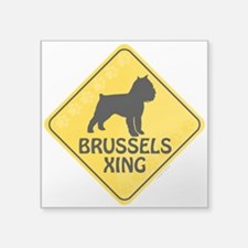 """Brussels Xing Square Sticker 3"""" x 3"""""""