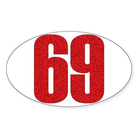 69 Oval Sticker