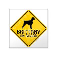 """Brittany On Board Square Sticker 3"""" x 3"""""""