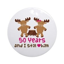 50th Anniversary Moose Ornament (Round)
