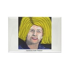 Margaret Thatcher In Wigs Rectangle Magnet