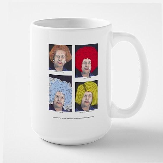 Margaret Thatcher In Wigs Large Mug
