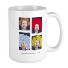 Margaret Thatcher In Wigs Mug