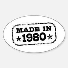 Made In 1980 Sticker (Oval)
