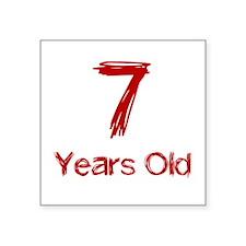 7 Years Old Sticker