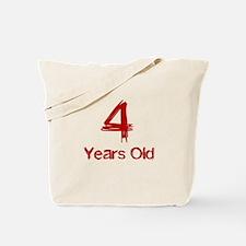4 Years Old Tote Bag
